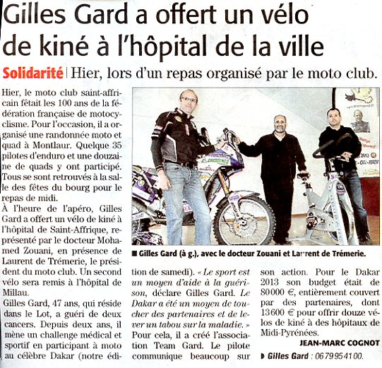 Article Midi-Libre 22 avril 2013