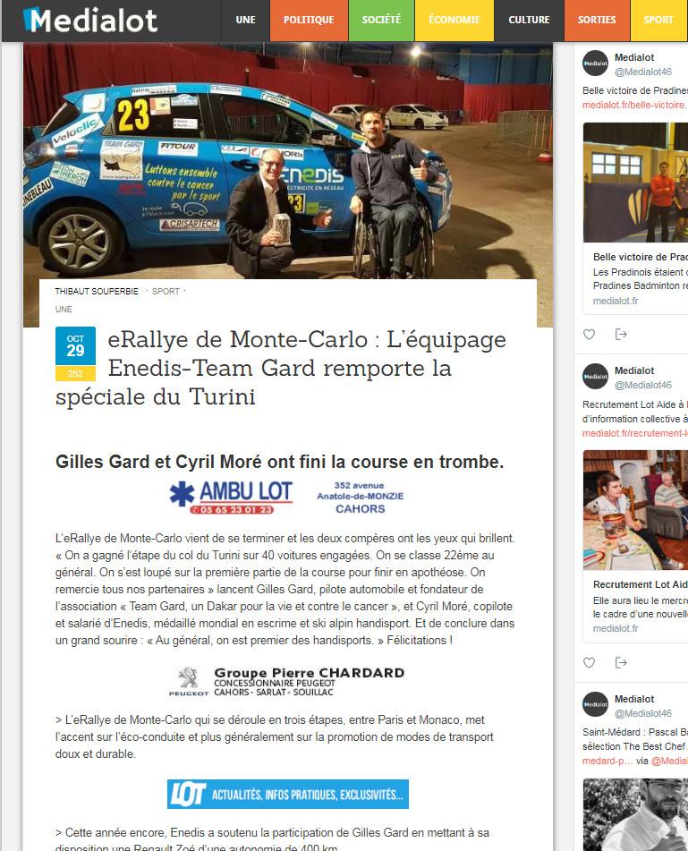 Médialot e-Rallye 2017 final